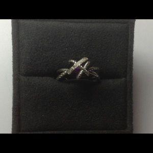 DY 10mm Amethyst Ring Sz 8